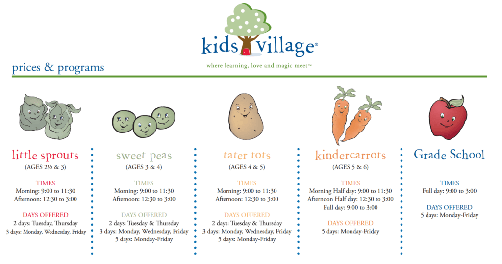 KV Kids Village Programs and Schedule